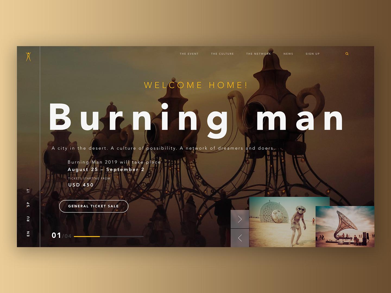"""Burning Man"" creative typography vector adobe art collage icon web logo branding adobexd figma website ui ux illustration site photoshop flat design"