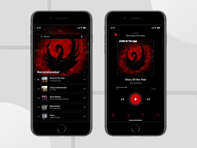 Music App minimal app adobe collage icon figma adobexd ui ux illustration logo flat photoshop design