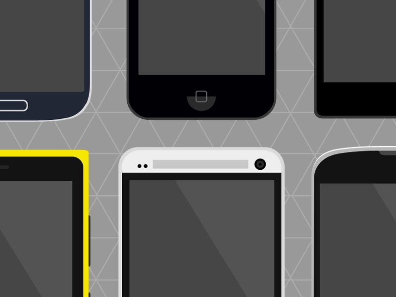 Flat Phones - PSD Freebie flat mobile psd freebie free ui