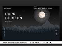 Daily Web/UI Design 09 | Dark Horizon