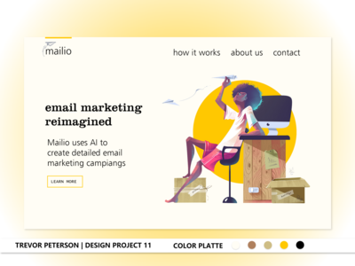 Daily Web/UI Design 11 | Mailio