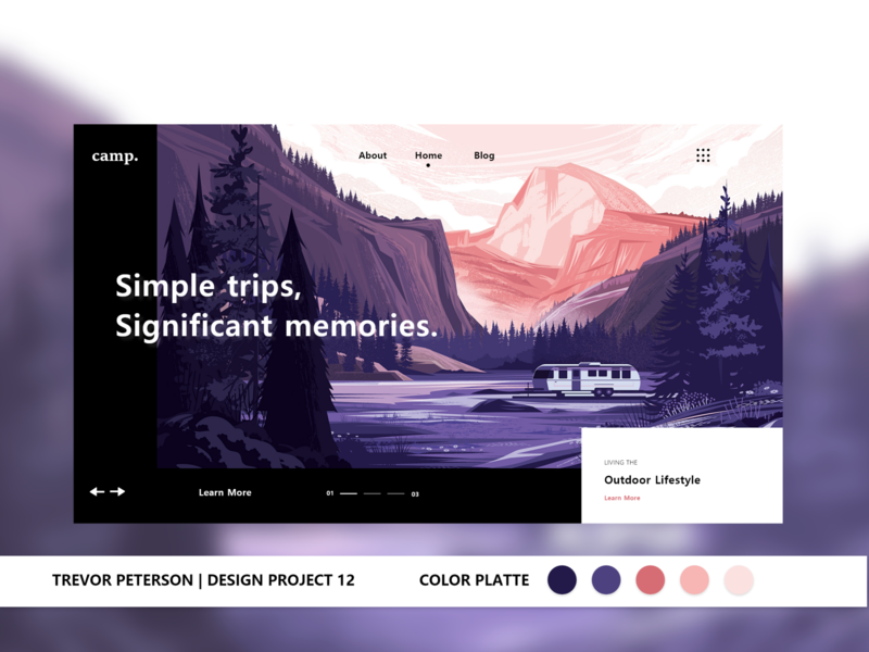 Daily Web/UI Design 12 | camp. Website Design minimalist daily web design web designer ui design simple daily ui ux design minimal ui web design