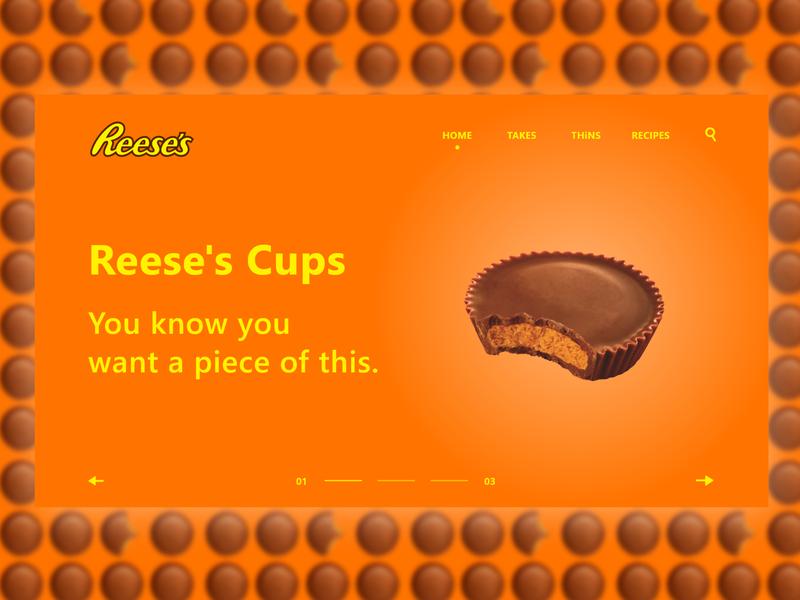 Daily Web/UI Design 13 | Reese's Website Design food ui design ux web designer daily ui ux design minimal website ui web design