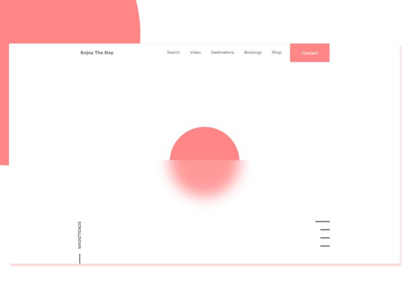 Simple Design For The Day daily design concept web designer ui design daily ui ux design minimal website ui web design