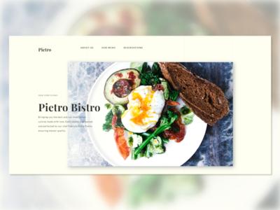 Pietro Bistro Website Redesign modern website concept daily ui daily design web designer ui minimal ux design web design restaurant branding restaurant