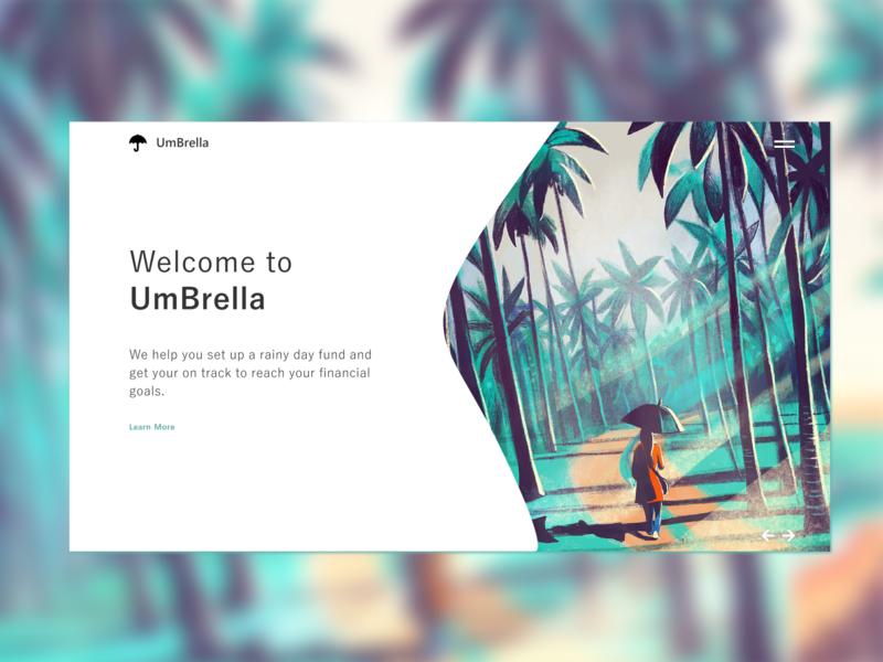 UmBrella Concept Website Design modern minimalist daily ui daily design illustration ui design concept ux design website web design umbrella