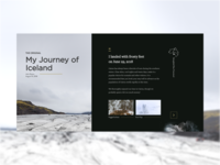 Journey of Iceland blog page redesign