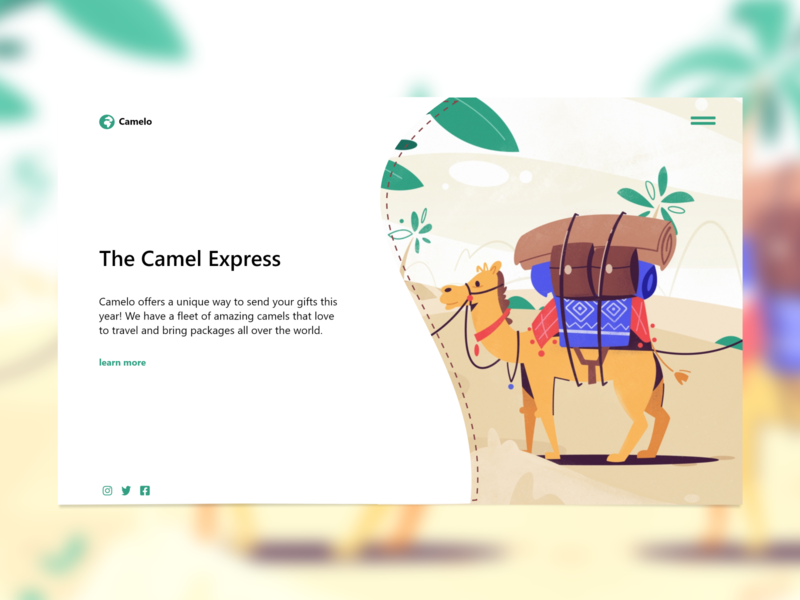 Camelo Website Concept Redesign daily web design modern ux camel illustration concept minimalist ui website ux design web design