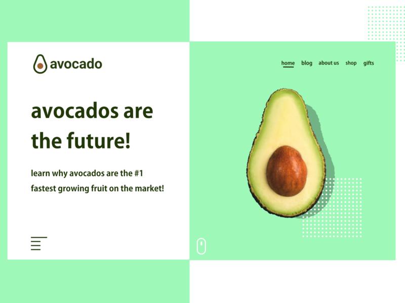 avocado 🥑 website daily design logo web design minimalist ux concept website minimal uiux ui webdesign avocado