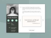 DailyUI #006 - User Profile