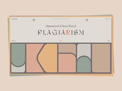Plagiarism )) poster design 4twiggers colors poster landingpage webdesign minimal vector typography website web design ux ui