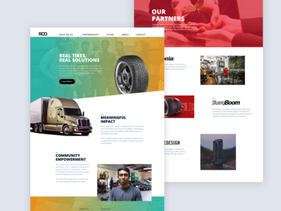 Redesign website for RCO Tires