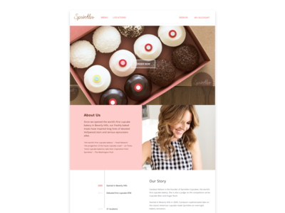 Sprinkles Cupcake Website Redesign