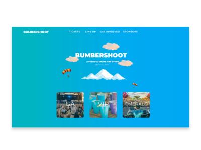Bumbershoot Web Landing Page