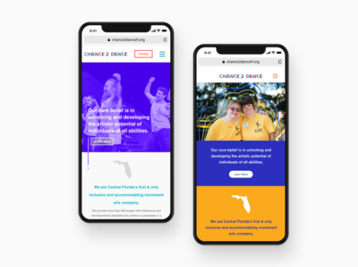 Mobile Web (Landing Page) for Non-profit Organization