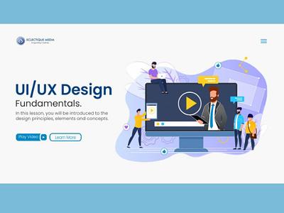 Website UI - Landing Page design web design website landing page ux ui