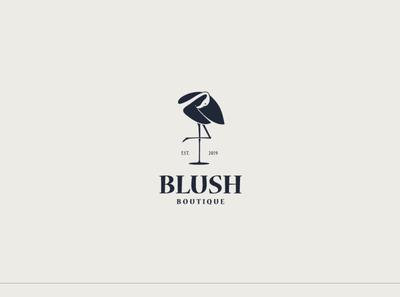 Blush Boutique | Logo Design icon flamingo swan boutique logo illustration logo design logo branding