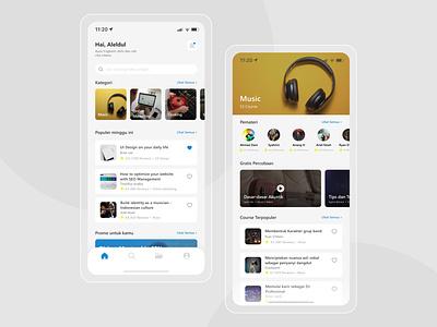 Course Online App Exploration - Daily UI #7 dailyuichallenge mobile app product design course whitespaces ios minimal figma ui design layout concept clean ui