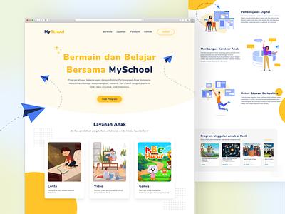 Children school web design children school challenges product design online course web design minimal figma ui design layout concept clean ui
