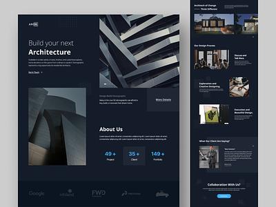 Architec Web Design Concept dailyuichallenge ux web design product design website ui design minimal white figma ui design layout concept clean