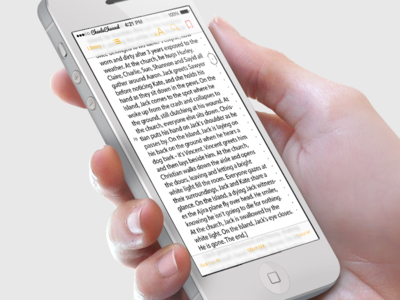 iBooks Redesign (iOS 7 Style)