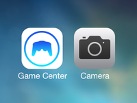 iOS 7 Icon Redesign (Game Center and Camera)