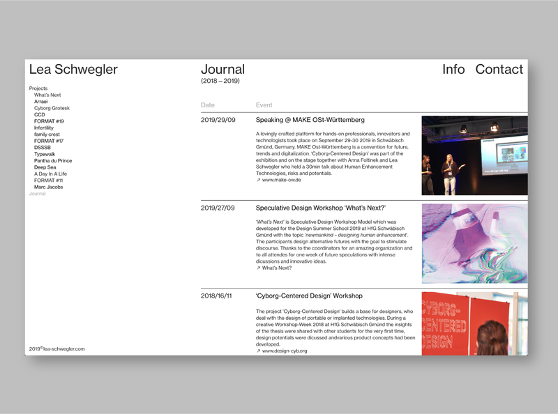LEA – Website Journal