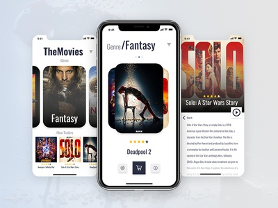 A movie app screen 🎟