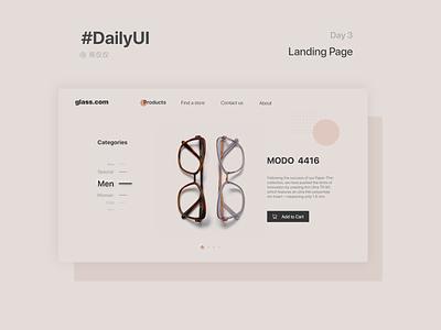 DailyUI Day3-Landing Page landing landing page daily 100 challenge 100daychallenge web design web design ui ux dailyui