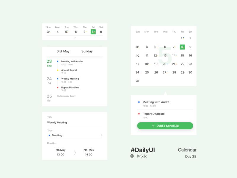 DailyUI Day38-Calendar