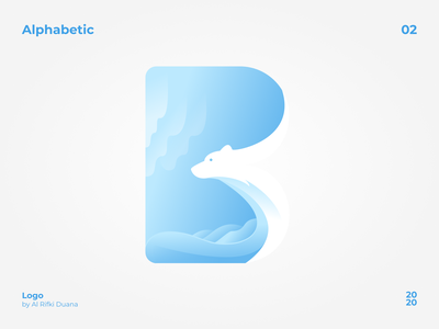 Alphabetic Logo (B) bear illustration figma logotype alphabet logo