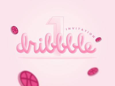 Dribbble Invitation design illustrator illustration dribbble invitation