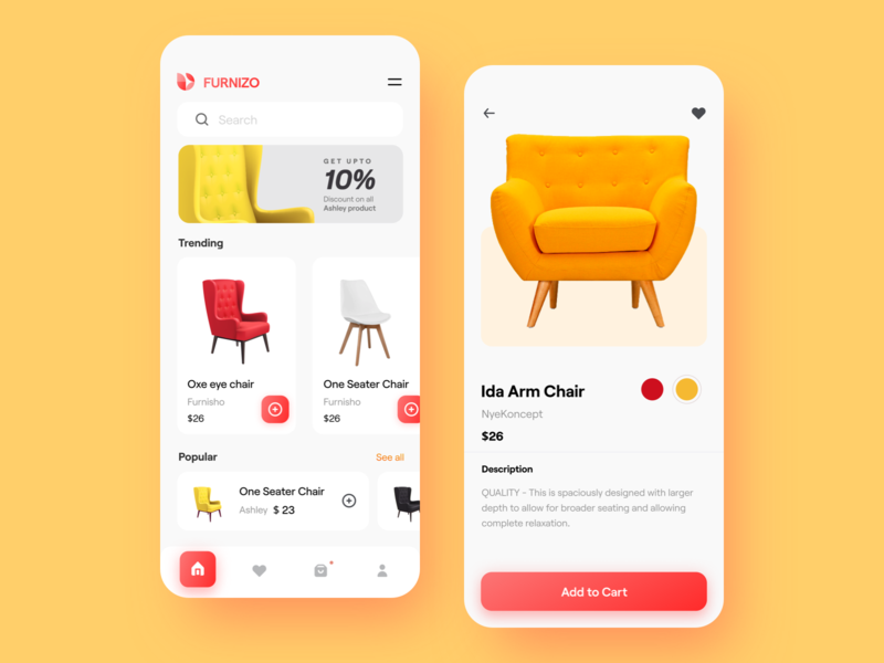 Furnizo || Ecommerce App checkout product page furniture app mobile app branding agency saas ecommerce bruvvv india ui web app design design android ios marketing online shop shopping ecommerce app