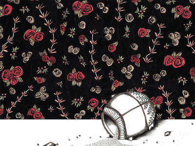The Teapot hans christian andersen flower wallpaper spilled milk broken glass teapot botanical herbalism flowers fairy tales drawing beauty illustration