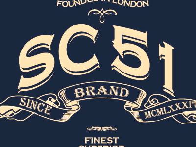 Sc51 Logo denim branding fashion apparel