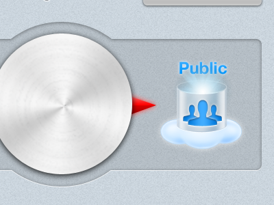 Privacy Dial ios ui control switch dial public private blue light gray