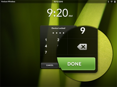 WebOS Lockscreen webos icon button green tablet lock time numbers numpad screen number