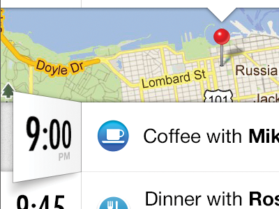 Time ios time map list