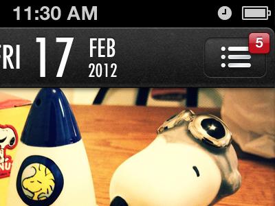 Date ios iphone calendar header dark notification jewel app