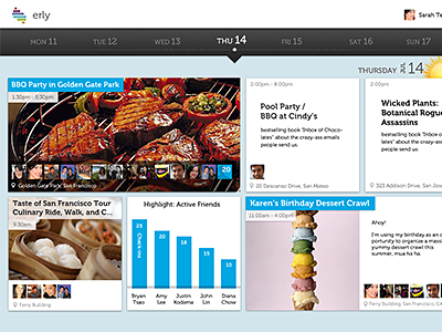 Events with a timeline events timeline photos layout web
