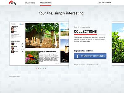 Erly Homepage version 1 homepage login gallery