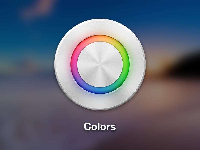 Colors Icon mac app icon mac icon colors philips hue metal apps switch color wheel icons colorful circle hub metalic light aluminum colours colour