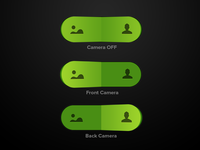 Camera Switch camera switch button toggle green app ios buttons rotate camera rotate rotation