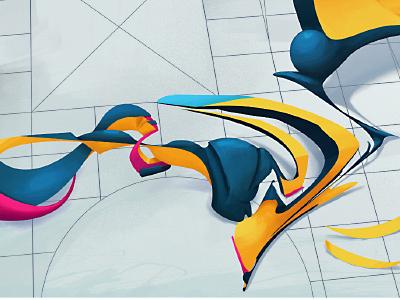 twisties graffiti painter paint art illustration abstract 3d