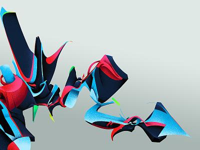 yeah freehand dynamic digital marketing foot odor abstract illustration graffiti