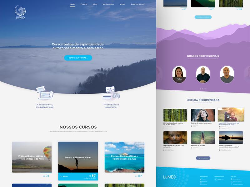 [Lumeo] Redesign redesign purple blue flat sketch web