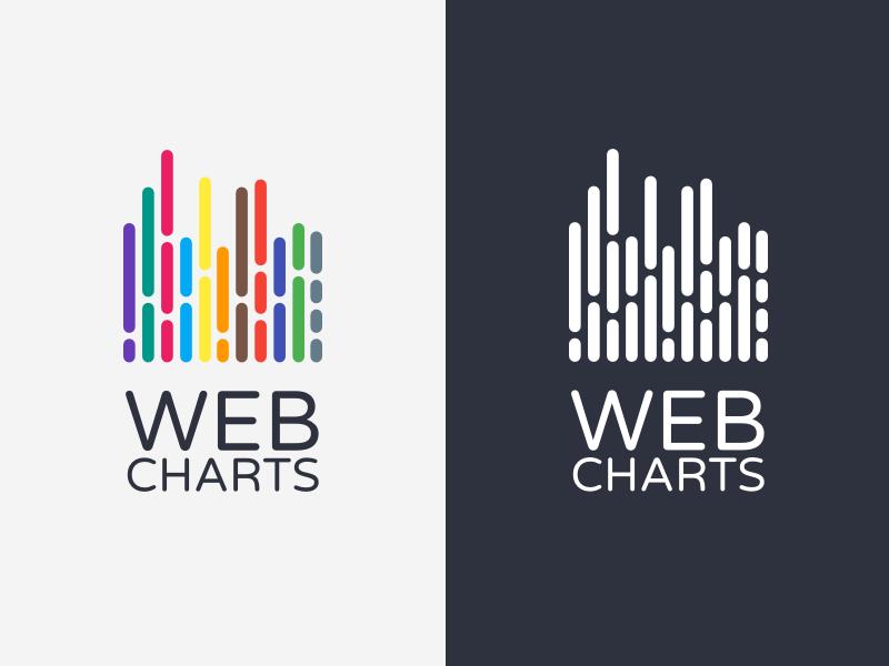 [Webcharts] Logo branding chart graph sketch logo