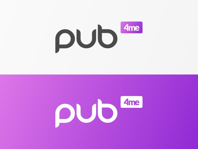 [Pub 4me] Logo gradient purple sketch logo 4me pub4me
