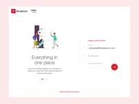 Login screen for banking platform