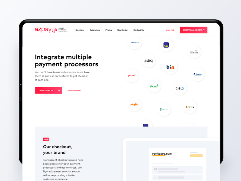 AZPay Home Page - Smart Payment Solutions landing sketch ui visual design web website finance